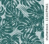 tropical seamless pattern with... | Shutterstock .eps vector #1116199661