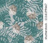beautiful tropical seamless... | Shutterstock .eps vector #1116199667