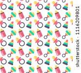 baby shower seamless pattern.... | Shutterstock .eps vector #1116209801