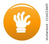 hand fear icon. simple... | Shutterstock .eps vector #1116213605