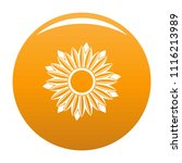 ripe sunflower icon. simple... | Shutterstock .eps vector #1116213989