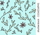 hand drawn floral background... | Shutterstock .eps vector #1116216941
