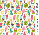 vector seamless pattern with... | Shutterstock .eps vector #1116219767