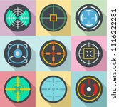 specific purpose icons set.... | Shutterstock .eps vector #1116222281