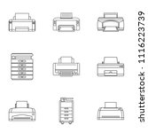 technical specialist icons set. ...   Shutterstock .eps vector #1116223739