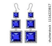 sapphire earrings mockup.... | Shutterstock .eps vector #1116223817