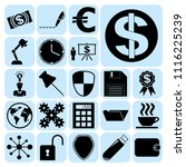 set of 22 business icons ... | Shutterstock .eps vector #1116225239