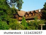 wooden house in croatia         ... | Shutterstock . vector #1116228257