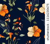trendy seamless flower pattern. ... | Shutterstock .eps vector #1116230675