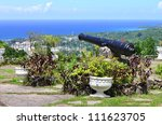Small photo of The scenic view over Ocho Rios port town from Shaw Park Botanical Gardens, Jamaica.