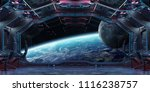 grunge spaceship blue and pink... | Shutterstock . vector #1116238757