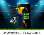 soccer player with field... | Shutterstock .eps vector #1116238814