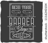 vintage label design with... | Shutterstock .eps vector #1116240104