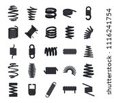 coil spring cable icons set.... | Shutterstock .eps vector #1116241754