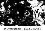 black and white liquid texture. ... | Shutterstock .eps vector #1116246467