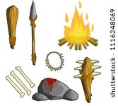 a set of primitive tools... | Shutterstock .eps vector #1116248069