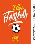 i love football | Shutterstock .eps vector #1116248381