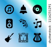 vector icon set about music... | Shutterstock .eps vector #1116251291