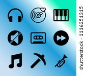 vector icon set about music... | Shutterstock .eps vector #1116251315