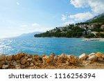baska voda shore view in... | Shutterstock . vector #1116256394