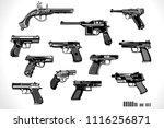 guns  old and modern | Shutterstock .eps vector #1116256871