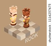 isometric cartoon chess pieces...   Shutterstock .eps vector #1116257675