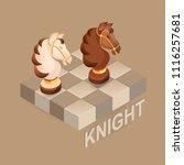 isometric cartoon chess pieces  ...   Shutterstock .eps vector #1116257681