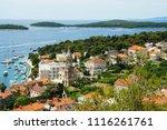 buildings details at hvar in... | Shutterstock . vector #1116261761