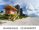 south beach in miami  florida ... | Shutterstock . vector #1116266054