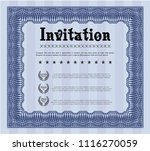 blue retro vintage invitation.... | Shutterstock .eps vector #1116270059
