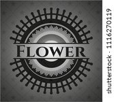 flower black badge | Shutterstock .eps vector #1116270119
