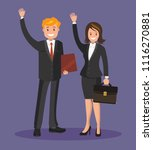 business people  a man and a... | Shutterstock .eps vector #1116270881