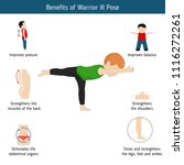 infographics of yoga pose.... | Shutterstock .eps vector #1116272261