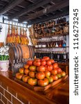 Small photo of Tenerife, Canary islands - june 19, 2018: View of the corner of a typical tavern in the urban center of the city of La Laguna