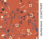 memphis background.  abstract...   Shutterstock .eps vector #1116273269