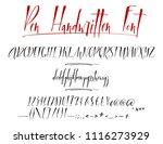 pen lettering vector alphabet...   Shutterstock .eps vector #1116273929