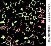 memphis background.  trendy...   Shutterstock .eps vector #1116274079