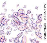 falling geometric figures....   Shutterstock .eps vector #1116274199