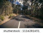 vanishing point road  megalong... | Shutterstock . vector #1116281651