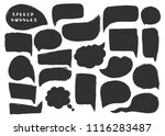 various black speech bubbles.... | Shutterstock .eps vector #1116283487