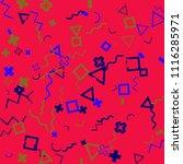 memphis background.  modern...   Shutterstock .eps vector #1116285971