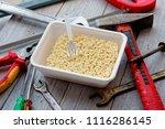 instant noodles ramen on a...   Shutterstock . vector #1116286145