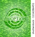 adoption realistic green emblem.... | Shutterstock .eps vector #1116286451