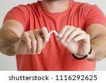quit smoking concept   studio...   Shutterstock . vector #1116292625