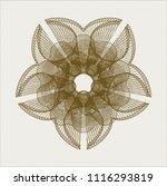 brown rosette or money style... | Shutterstock .eps vector #1116293819