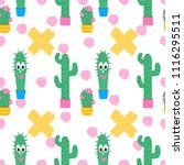vector seamless pattern with... | Shutterstock .eps vector #1116295511
