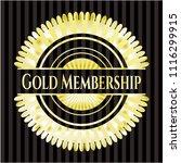 gold membership shiny emblem | Shutterstock .eps vector #1116299915