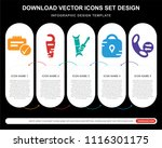 5 vector icons such as... | Shutterstock .eps vector #1116301175