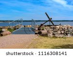 large ancient anchor memorial... | Shutterstock . vector #1116308141