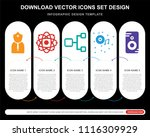 5 vector icons such as doctor ... | Shutterstock .eps vector #1116309929